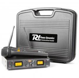 Power Dynamics PD782 2x 8 Canaux UHF Système Sans Fil avec Microphones